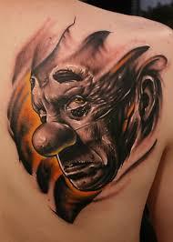 make tatttoos design clown tattoo design artistic