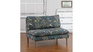 A W Upholstery Folkland Admiral Upholstered Settee The Land Of Nod