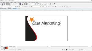 Design A Business Card Free How To Design A Business Card Corel Draw X7 Project 24 Youtube