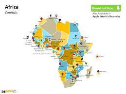 africa map khartoum customizable africa powerpoint map