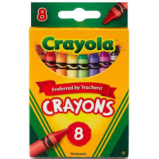 crayola classic crayons 8 count in primary colors walmart com