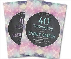 40th birthday invitations for her u2013 gangcraft net