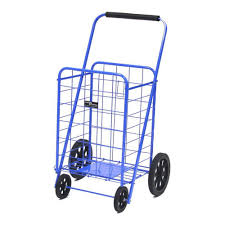 Home Depot Folding Hand Truck by Easy Wheels Metal Super Shopping Cart 002 R Bl The Home Depot
