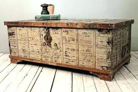Box Coffee storage chests wooden storage trunk storage trunks and chests with