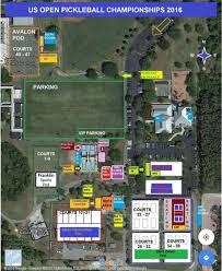 us open pickleball championship site map