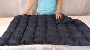 sensacalm navy weighted blanket youtube