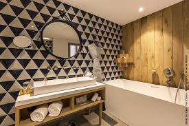bathroom tile kitchen floor wall carrelage en triangles