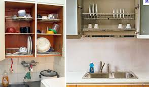 Kitchen Cabinet Dish Rack Dish Draining Closet Space Saver Every Home Should Have