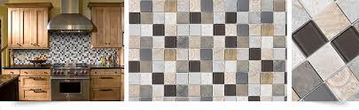 Beige Brown Gray Glass Slate Backsplash Tile Backsplashcom - Brown tile backsplash