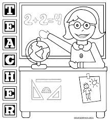 teacher coloring pages with coloring page glum me