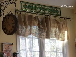 Burlap Ruffle Curtain Christmas Decor In A Country French Rustic Kitchen Debbiedoo U0027s