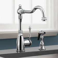 Kitchen Faucet With Side Spray Blanco 441426 Grace Satin Nickel One Handle With Sidespray Kitchen