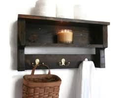 Wood Bathroom Shelves by Open Shelves Etsy