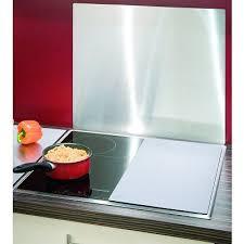 protege mur cuisine crédence plaque protège mur en acier inoxydable achat vente