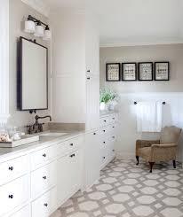 travertine floor transitional bathroom at home in arkansas