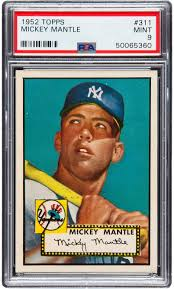 photo card mint condition mickey mantle rookie card expected to sale record