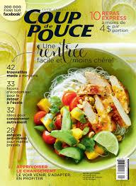 magasine cuisine coup de pouce septembre 2015 magazine cuisine mode sante beaute