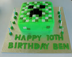 mindcraft cake minecraft birthday cake my requested a creeper minecra flickr