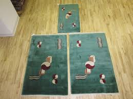 Nichols Chinese Rugs Three Matching Nichols Chinese Art Deco Rugs Northwest China From