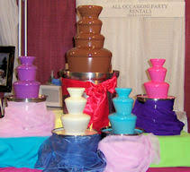 chocolate rentals all occasion rentals rental dessert presentation