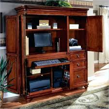 Computer Armoire With Pocket Doors Desk Image For Vaughan Bassett Armoire Office Computer Desk