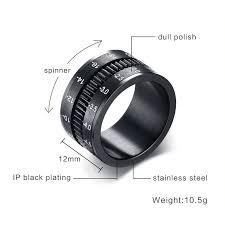 unique mens rings unique men s rings stainless steel slr lens ring for men