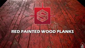 substance designer painted wood planks texturing process