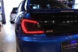 subaru hatchback custom rhdjapan car shop glow custom led tail lights smoked ver 1