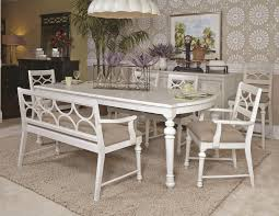 beautiful vintage antique white dining set with bench in