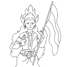 coloring pages of independence day of india independence day sketch drawing clipartxtras
