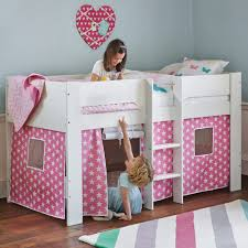girls bed tent paddington mid sleeper bed with pink star play den all