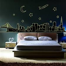 popular big wall decor buy cheap big wall decor lots from china 200 70cm diy home decoration luminous wall sticker big size night city luminated wall stickers
