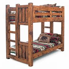 Barnwood Bunk Beds Solid Barnwood Timber Frame Bunk Beds
