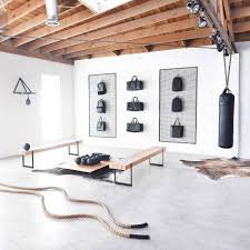 Gym Flooring For Garage by Designing A Home Gym Home Gyms White Walls And Ropes