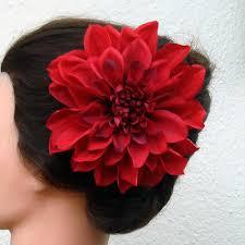 flowers for hair flower clip dahlia x large 6 inch alligator hair clip bridal