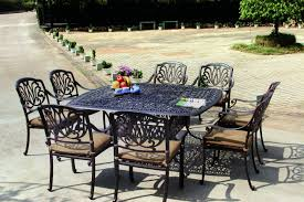 Antique Patio Chairs Amazon Com Darlee Elisabeth Cast Aluminum 9 Piece Dining Set