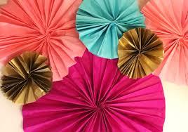 diy paper fans diy tissue paper fans the party ville party planner