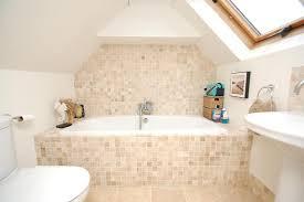 loft conversion bathroom ideas contemporary simple beige white bathroom loft conversion mosaic