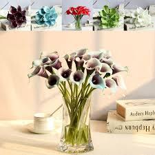artificial calla flowers bunch bridal bridemaid bouquet bundle