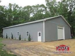 Pioneer Pole Barns A 40x64x12 Commercial Pole Building In Ivory And Red Commercial