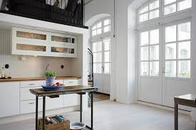 Industrial Kitchen Backsplash by Sleek Pantry Of Industrial Loft House Furnished Near Sink With