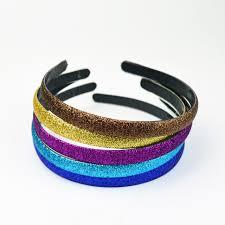 hair clasp hair headband plastic glitter hair clasp headband for women