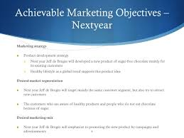 marketing objective example objective statement example