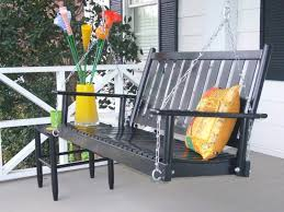 Porch Swing With Stand Outdoor U0026 Garden Fine Patio Bench Swing With Armrest And Stripe