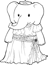 princess clipart elephant pencil and in color princess clipart