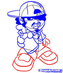 draw a graffiti character step by step drawing sheets added by