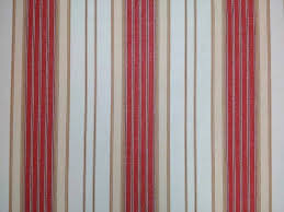 Regency Stripe Upholstery Fabric Malabar Ticking Broad Stripe Fabric Red Ivory Curtains And