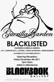 black friday denver colorado black book gallery presents guerrilla garden u201cblacklisted