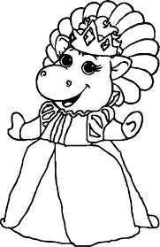 baby bop princess coloring page wecoloringpage