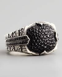 black sapphires rings images Lyst stephen webster pave black sapphire ring in metallic for men jpeg